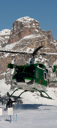 Helicopter transport to remote film sites.